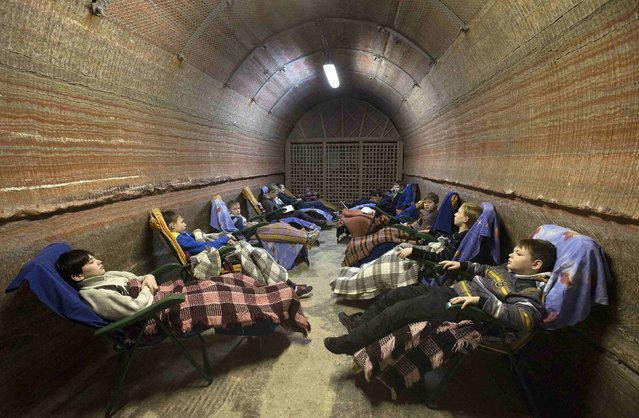 Children rest in the facilities of Belarus' Republican Clinic of Speleotherapy within a salt mine, as part of their treatment, near the town of Soligorsk, south of Minsk, February 19, 2015. (Photo by Vasily Fedosenko/Reuters)