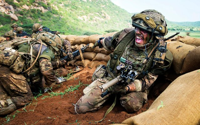 Soldiers on exercise in Kenya. The image, by Sergeant Dek Traylor, is among the section winners in the UK Army Photographic Competition 2018. (Photo by Sergeant Dek Traylor/PA Wire)