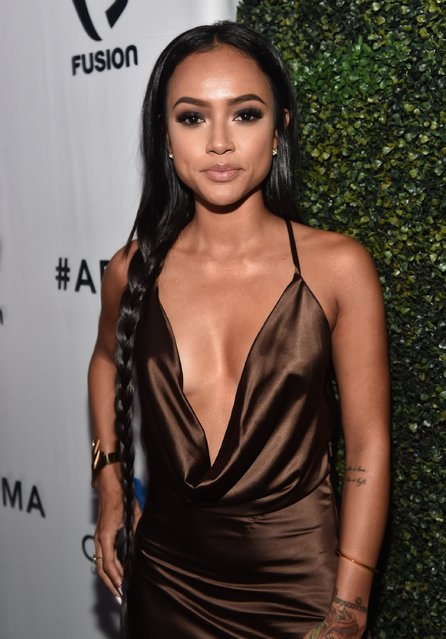 Actress Karrueche Tran attends the ALL Def Movie Awards at Lure Nightclub on February 24, 2016 in Hollywood, California. (Photo by Alberto E. Rodriguez/Getty Images)