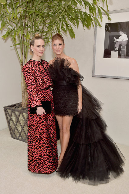 Sarah Paulson (L) and Kate Walsh attend The 21st CDGA (Costume Designers Guild Awards) at The Beverly Hilton Hotel on February 19, 2019 in Beverly Hills, California. (Photo by Stefanie Keenan/Getty Images for CDGA)