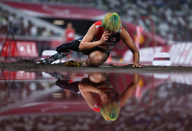Kaede Maegawa of Team Japan competes in the Women's Long Jump T63 on day 9 of the Tokyo 2020 Paralympic Games at Olympic Stadiumon September 02, 2021 in Tokyo, Japan. (Photo by Athit Perawongmetha/Reuters)