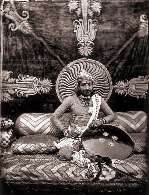 Self-portrait of the Maharajah Ram Singh III, in the royal palace of Jaipur, India, 1857 – 1865. (Photo by Maharaja Ram Singh III/Alinari via Getty Images)