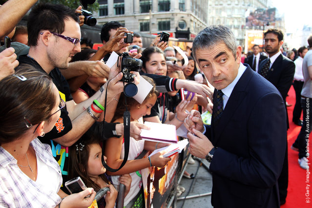 Johnny English Reborn – UK Premiere, Rowan Atkinson