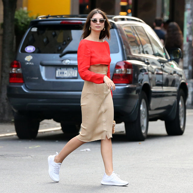 Emily Ratajkowski is seen in SoHo on June 01, 2019 in New York City. (Photo by Splash News and Pictures)