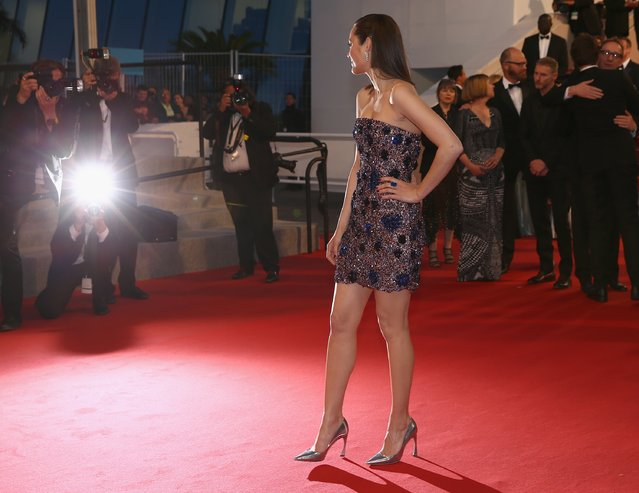 """Actress Marion Cotillard departs the """"Macbeth"""" Premiere during the 68th annual Cannes Film Festival on May 23, 2015 in Cannes, France. (Photo by Andreas Rentz/Getty Images)"""