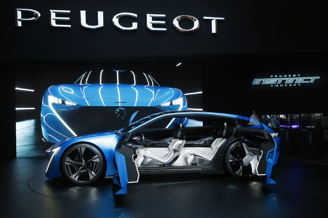 Peugeot Instinct concept car is seen during the 87th International Motor Show at Palexpo in Geneva, Switzerland March 7, 2017. (Photo by Arnd Wiegmann/Reuters)