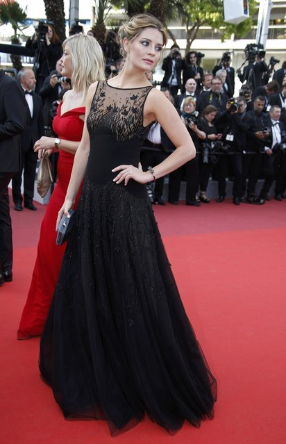 """Model Mischa Barton poses on the red carpet as she arrives for the screening of film """"Loving"""" in competition at the 69th Cannes Film Festival in Cannes, France, May 16, 2016. (Photo by Eric Gaillard/Reuters)"""