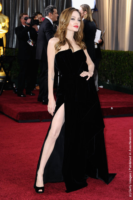 Actress Angelina Jolie arrives at the 84th Annual Academy Awards held at the Hollywood & Highland Center