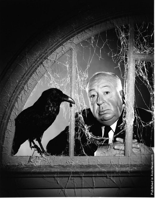 The British film director Alfred Hitchcock, at the time of the filming of his movie The Birds. USA, California, Hollywood, Universal Studios, 1962