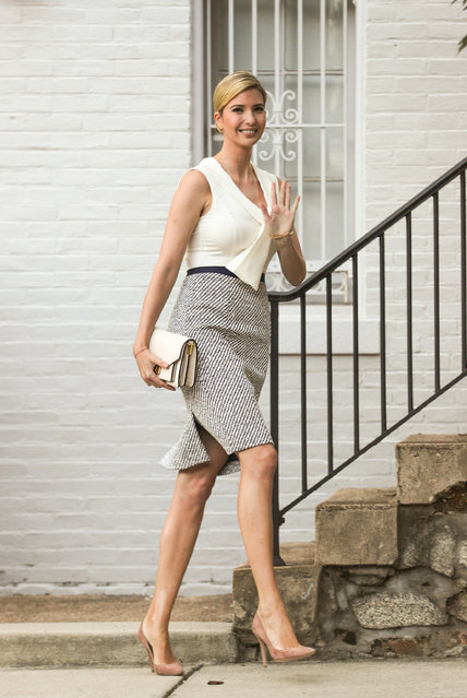 Ivanka Trump is seen leaving her D.C. home this morning and heading to work in Washington, District of Columbia on July 31, 2017. (Photo by Sol Tucker/INSTARimages.com)
