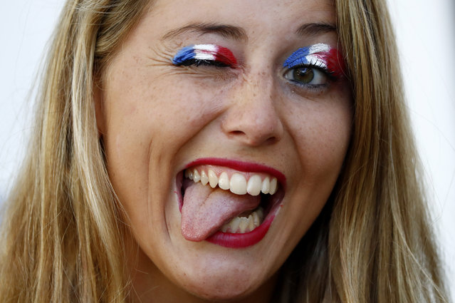 Football Soccer, Germany vs France, EURO 2016, Semi Final, Stade Velodrome, Marseille, France on July 7, 2016. France fan inside the stadium before the game. (Photo by Christian Hartmann/Reuters/Livepic)