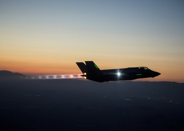 The F-35 Integrated Test Force is completing a series of night flights, testing the ability to fly the jet safely in instrument meteorological conditions where the pilot has no external visibility references. The ITF, which has the lead on all F-35 mission systems testing, is responsible for five of the six night flights. (Photo by Tom Reynolds/Lockheed Martin)