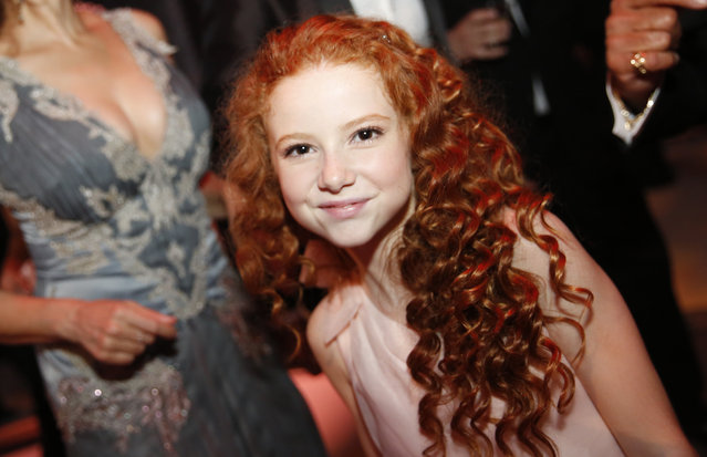 Francesca Capaldi attends the Governors Ball for the Television Academy's Creative Arts Emmy Awards at Microsoft Theater on Saturday, September 12, 2015, in Los Angeles. (Photo by Colin Young-Wolff/Invision for the Television Academy/AP Images)