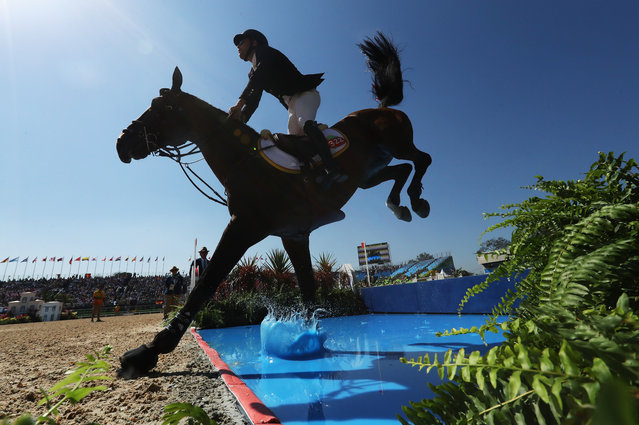 Daniel Bluman of Colombia riding Apardi competes during the Jumping Individual and Team Qualifier on Day 9 of the Rio 2016 Olympic Games at the Olympic Equestrian Centre on August 14, 2016 in Rio de Janeiro, Brazil. (Photo by Christian Petersen/Getty Images)