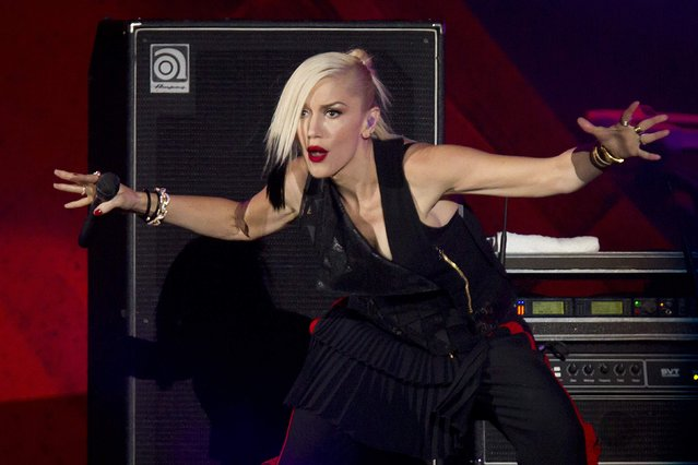 Gwen Stefani of No Doubt performs on stage during the Global Citizen Festival concert in Central Park in New York September 27, 2014. (Photo by Carlo Allegri/Reuters)