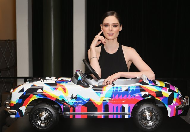 Fashion Festival ambassador Coca Rocha poses in front of model Mercedes Benz cars during a media call to open Mercedes-Benz Fashion Festival Sydney at Sydney Town Hall on September 24, 2015 in Sydney, Australia. (Photo by Don Arnold/Getty Images)