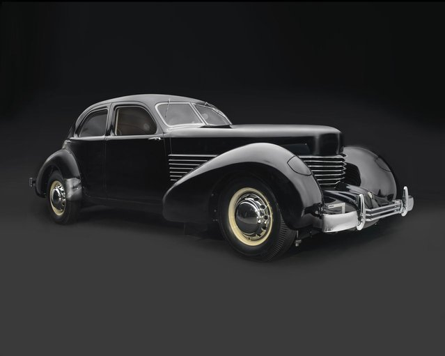 """1936 Cord 810 """"Armchair"""" Beverly Sedan. Collection of Richard and Debbie Fass. (Photo by Peter Harholdt)"""