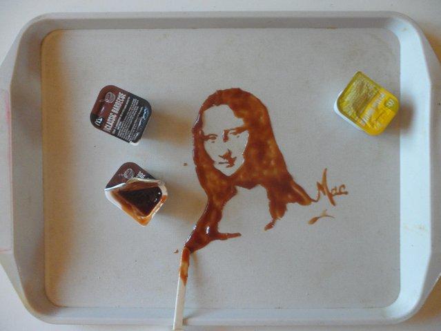 Spilled Food & Drink Portraits by Vivi Mac
