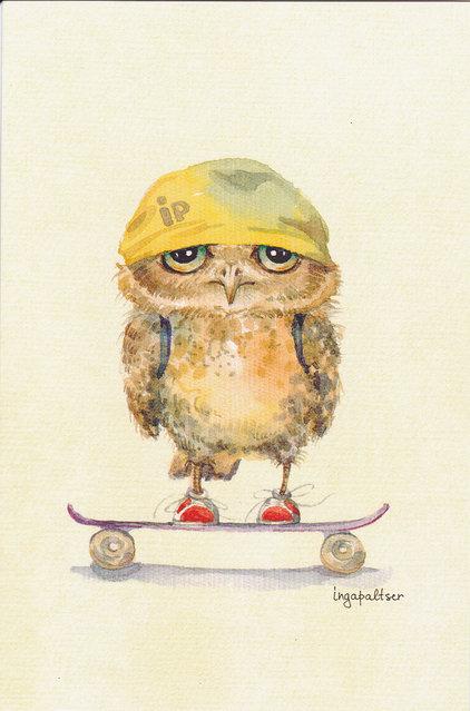 Owlets By Inga Paltser