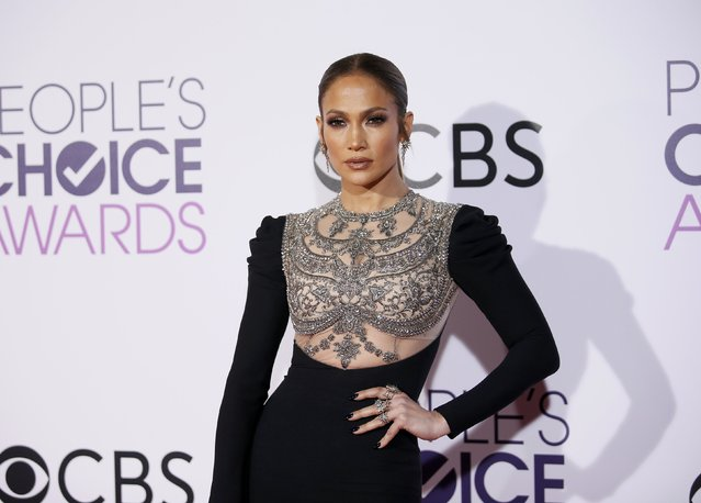 Actress and singer Jennifer Lopez arrives at the People's Choice Awards 2017 in Los Angeles, California, U.S., January 18, 2017. (Photo by Danny Moloshok/Reuters)
