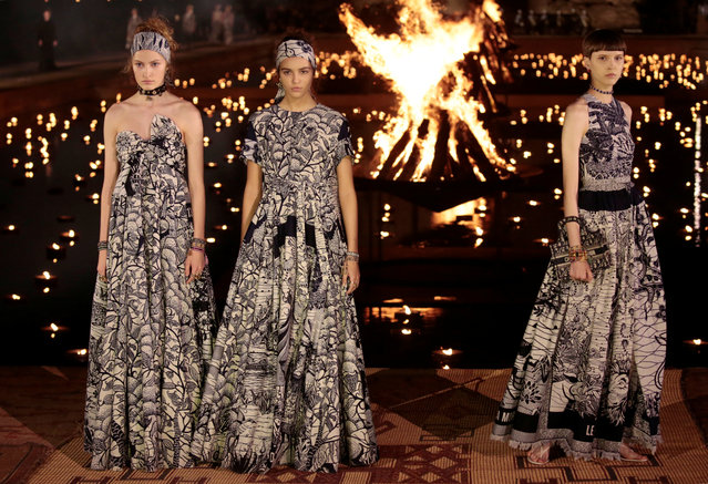 Models present creations during the Cruise 2020 collection show for French fashion house Dior in Marrakech, Morocco, April 29, 2019. (Photo by Youssef Boudlal/Reuters)