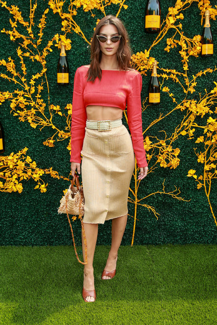 Emily Ratajkowski attends the 12th Annual Veuve Clicquot Polo Classic at Liberty State Park on June 01, 2019 in Jersey City, New Jersey. (Photo by The Mega Agency)