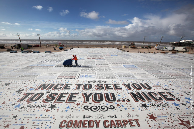 Comedy Carpet by British artist Gordon Young