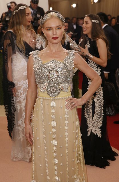 """Actress Kate Bosworth arrives at the Metropolitan Museum of Art Costume Institute Gala (Met Gala) to celebrate the opening of """"Manus x Machina: Fashion in an Age of Technology"""" in the Manhattan borough of New York, May 2, 2016. (Photo by Lucas Jackson/Reuters)"""