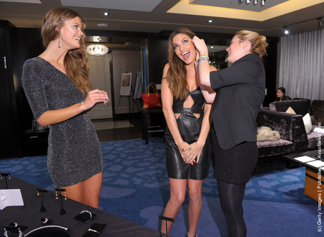 SI swimsuit models Nina Agdal and Alyssa Miller visit Forevermark Diamond Suite at The Cosmopolitan of Las Vegas