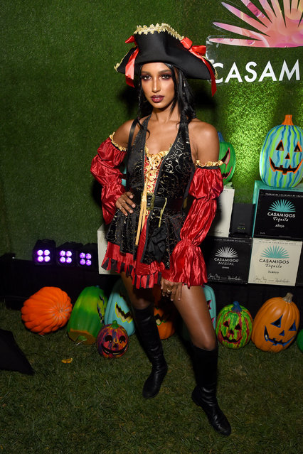 Jasmine Tookes attends the 2019 Casamigos Halloween Party on October 25, 2019 at a private residence in Beverly Hills, California. (Photo by Michael Kovac/Getty Images for Casamigos)