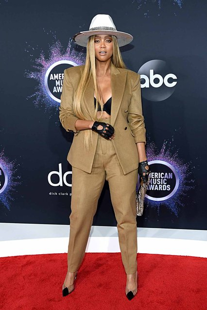 Tyra Banks attends the 2019 American Music Awards at Microsoft Theater on November 24, 2019 in Los Angeles, California. (Photo by Kevin Mazur/Getty Images for dcp)