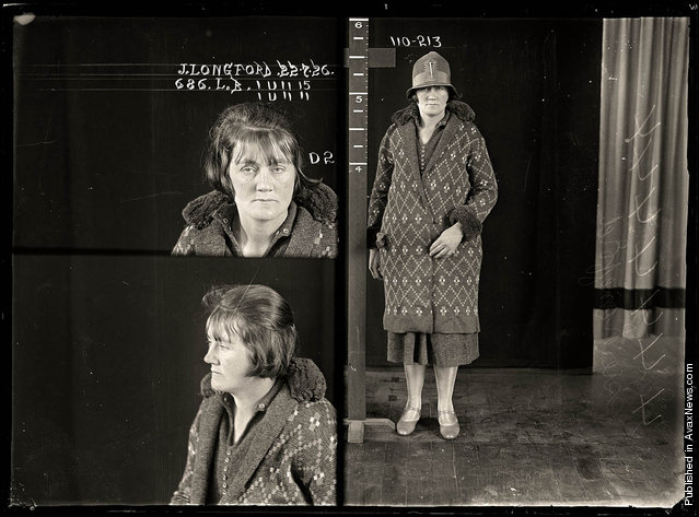 Jessie Longford, criminal record number 686LB, 22 July 1926. State Reformatory for Women, Long Bay, NSW