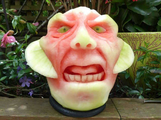 Watermelons are one of the sweetest parts of summer, but there's no reason not to have some fun with them before you start eating. Artist Clive Cooper of Sparksfly Design saw beauty in the rinds and got to work carving sculptures out of the fruit before digging in.