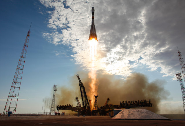 The Soyuz TMA-05M rocket launches from the Baikonur Cosmodrome in Kazakhstan carrying Russian, Japanese and U.S. astronauts to the International Space Station for a four-month mission. Carla Cioffi is a photographer and photo archivist for NASA and currently based in the Washington DC-area. (Photo by Carla Cioffi/Reuters/NASA)