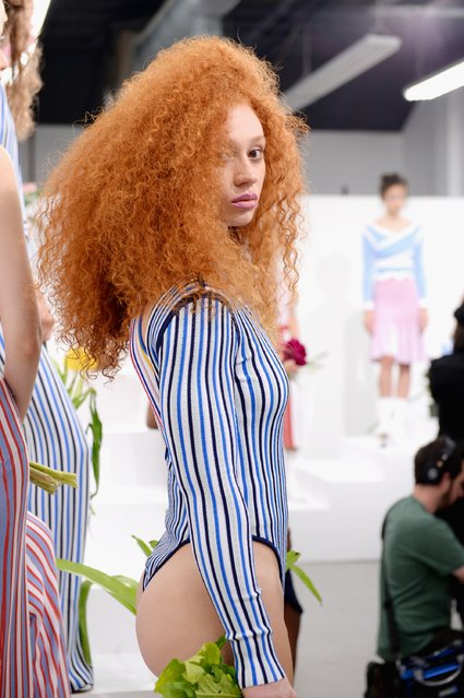 A model poses during the PH5 Presentation at New York Fashion Week on September 6, 2017 in New York City. (Photo by Andrew Toth/Getty Images for PH5)