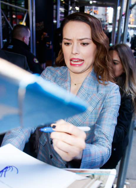 Daisy Ridley at GMA on November 28, 2017 in New York City. (Photo by Jackson Lee/GC Images)