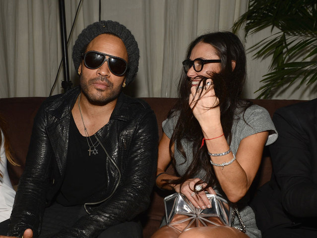 Musician Lenny Kravitz and actress Demi Moore attend Chanel beachside BBQ celebrating Art.sy at Soho Beach House on December 5, 2012 in Miami Beach, Florida. (Photo by Venturelli/WireImage)
