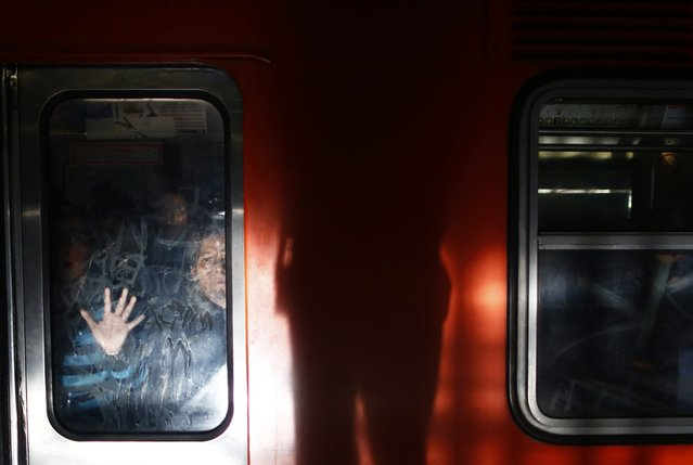 Women ride the Women-Only passenger car at a subway station in Mexico City October 24, 2014. (Photo by Edgard Garrido/Reuters)