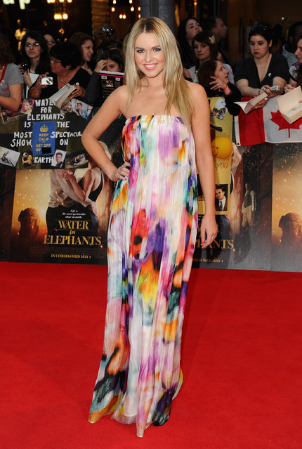 "TV presenter Zoe Salmon attends the ""Water for Elephants"" UK film premiere at the Vue Westfield on May 3, 2011 in London, England.  (Photo by Ian Gavan)"