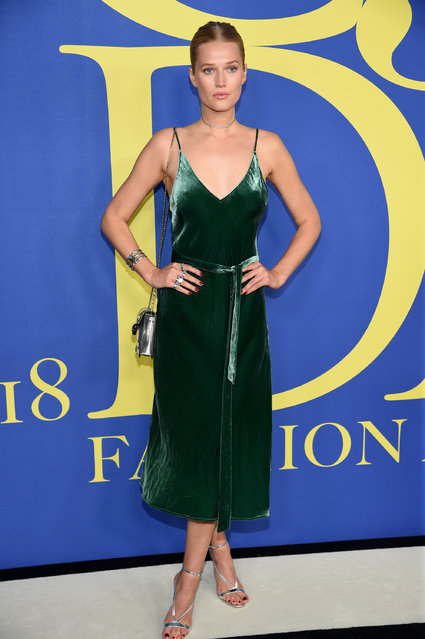 Toni Garrn attends the 2018 CFDA Fashion Awards at Brooklyn Museum on June 4, 2018 in New York City. (Photo by Dimitrios Kambouris/Getty Images)
