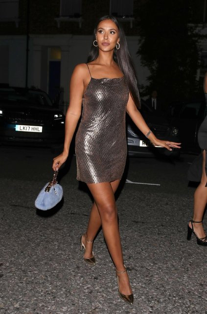 Maya Jama attends the GQ Men of the Year Awards at Tate Modern on September 5, 2018 in London, England. (Photo by Splash News and Pictures)