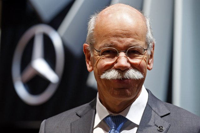 Daimler CEO Dieter Zetsche smiles during the first press day ahead of the 85th International Motor Show in Geneva March 3, 2015. REUTERS/Arnd Wiegmann (SWITZERLAND  - Tags: TRANSPORT BUSINESS HEADSHOT)