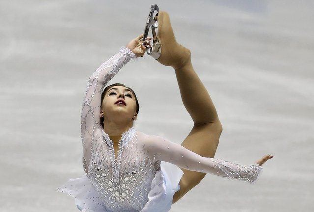 Gabrielle Daleman of Canada competes during the women's short program at the ISU World Team Trophy in Figure Skating in Tokyo April 16, 2015. (Photo by Yuya Shino/Reuters)