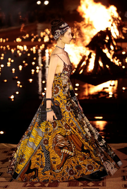 A model presents a creation during the Cruise 2020 collection show for French fashion house Dior in Marrakech, Morocco, April 29, 2019. (Photo by Youssef Boudlal/Reuters)