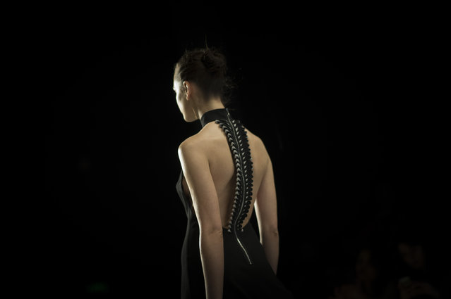 A model walks the runway at the Burce Bekrek show during MBFWI presented by American Express Fall/Winter 2014 on March 14, 2014 in Istanbul, Turkey.  (Photo by Timur Emek/Getty Images for IMG)