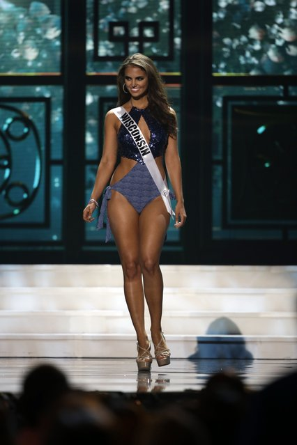 Miss Wisconsin, Haley Laundrie, competes in the bathing suit competition during the preliminary round of the 2015 Miss USA Pageant in Baton Rouge, La., Wednesday, July 8, 2015. (Photo by Gerald Herbert/AP Photo)
