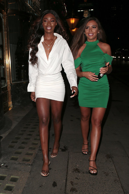 Yewande Biala and Elma Pazar seen attending Simmi Shoes – collection launch party at Buddha Bar London on October 08, 2019 in London, England. (Photo by Ricky Vigil M/GC Images)