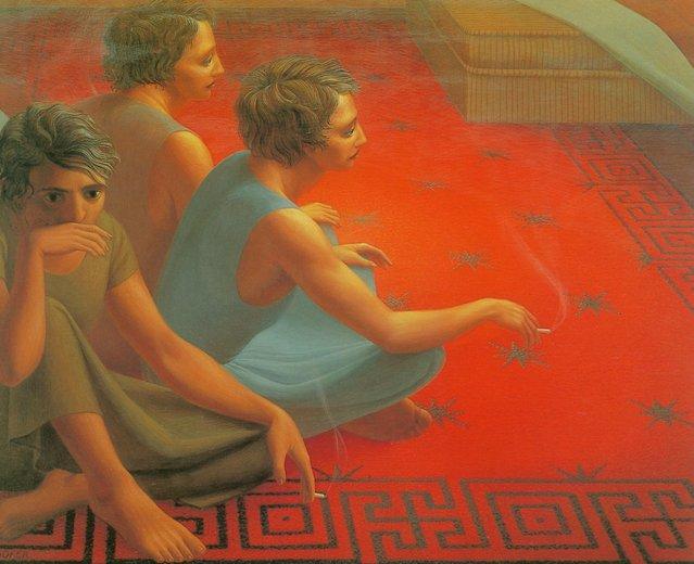 Red Carpet. Artwork by George Tooker