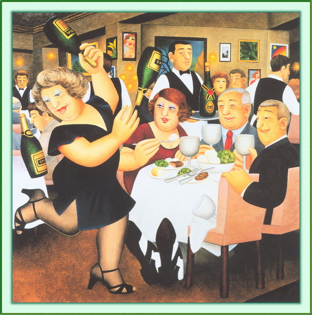 Dining Out. Artwork by Beryl Cook