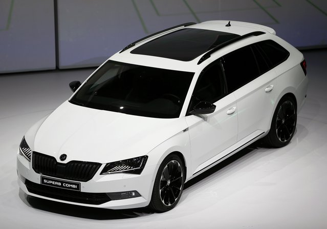 Skoda Superb Combi car is presented during the Volkswagen group night ahead of the Frankfurt Motor Show (IAA) in Frankfurt, Germany, September 14, 2015. (Photo by Kai Pfaffenbach/Reuters)